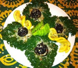 Shitake, Black Rice Kale Nests